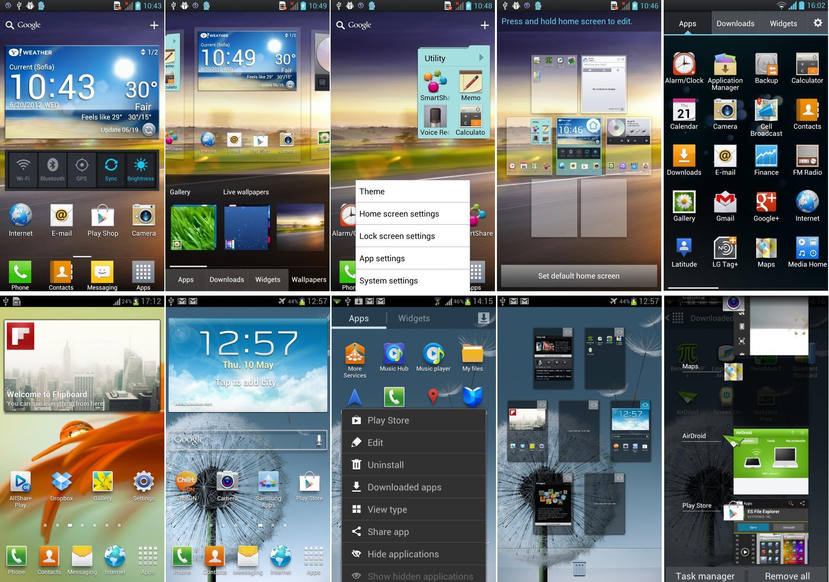 LG Optimus UI 3.0 vs Samsung TouchWiz UX (Foto: Reprodução)