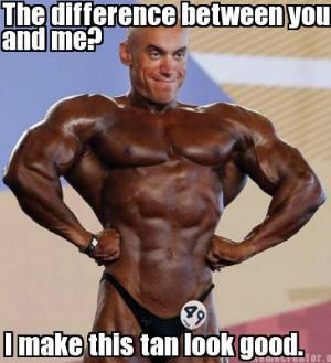 Meme de homem bronzeado virou febre na web (Foto: Reprodução)