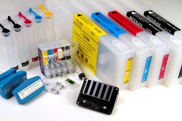 Kit de cartuchos de fitas para impressora de sublimação (Foto: Reprodução)
