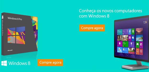 Windows 8 Pro e computadores com o sistema já estão disponíveis para pré-venda (Foto: Reprodução)