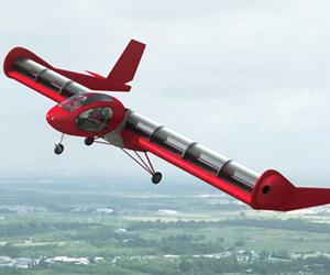 No interior das asas giram paletas que dão sustentação e velocidade ao avião (Foto: Reprodução)