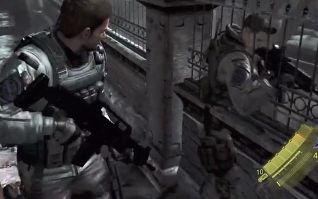 Bug mostra personagem atravessando parede em Resident Evil 6 (Foto: Reprodução)