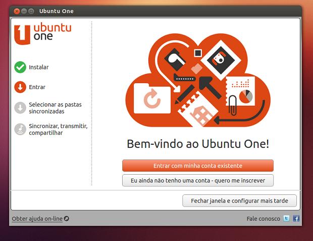 Iniciando o Ubuntu One (Foto: Reprodução/Edivaldo Brito)