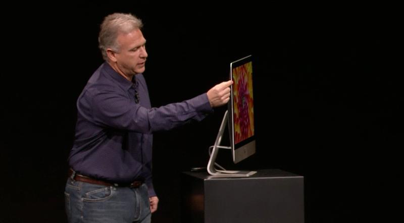 Phil Schiller destaca o novo design do iMac (Foto: Reprodução)