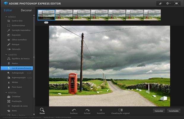 Photoshop Express Editor, da Adobe (Foto: Reprodução/Raquel Freire)