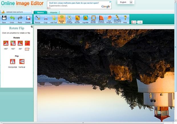 Online Image Editor é muito fácil de usar (Foto: Reprodução/Raquel Freire)