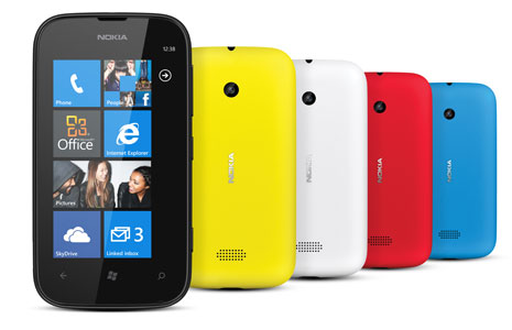 As cinco cores do novo Lumia 510 (Foto: Reprodução)