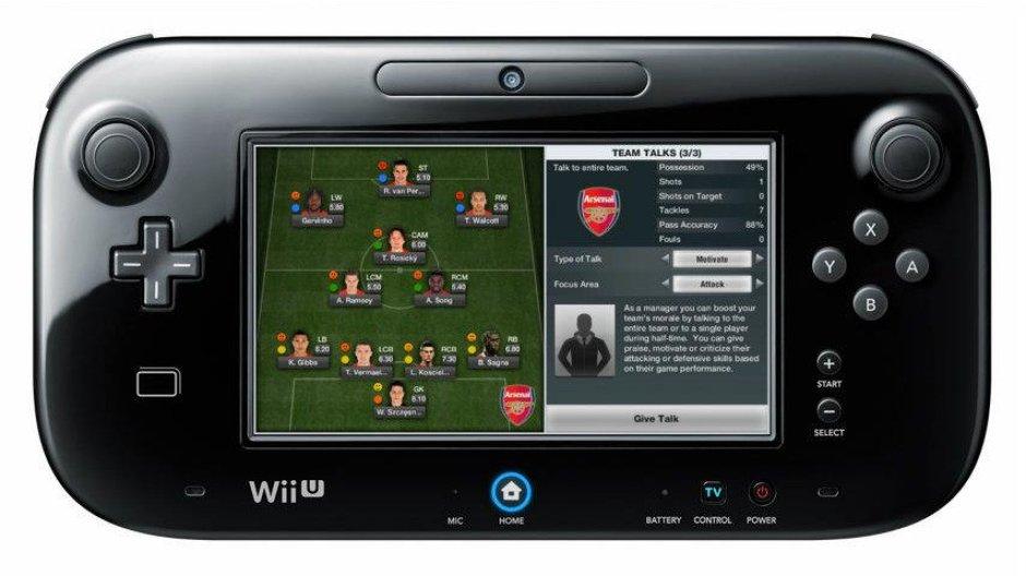 FIFA 13 no GamePad do Wii U (Foto: Divulgação)