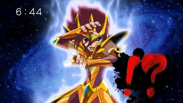 Kouga veste nova armadura em Saint Seiya Omega (Foto: Reprodução)