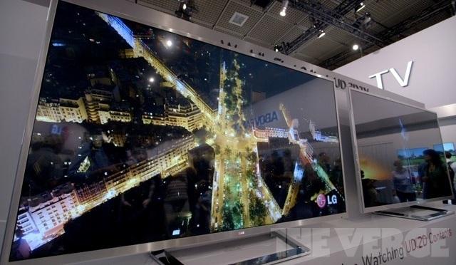 Os 4K de definição deste novo televisor significam uma resolução 4 vezes melhor (Foto: Reprodução/The Verge)
