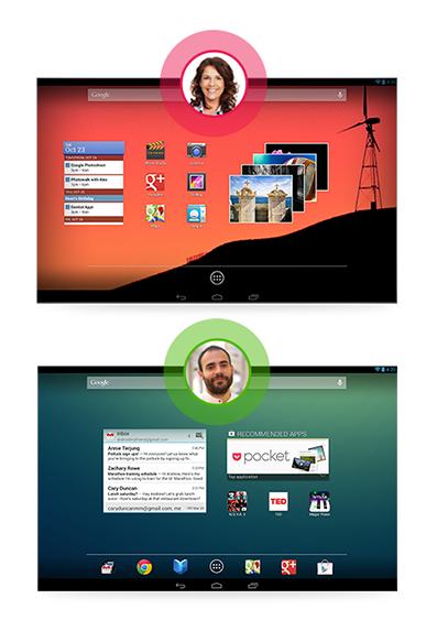 Android 4.2 traz novo recurso de gestão de usuários em tablets (Foto: Divulgação)