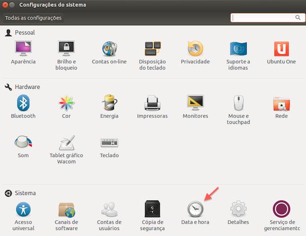 Configurações do Ubuntu (Foto: Reprodução/Helito Bijora)