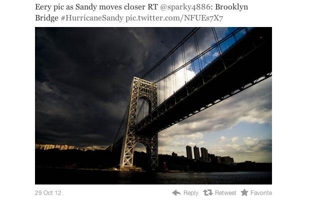Imagem de 2009 utilizada como sendo do furacão Sandy (Foto: Reprodução/Mashable)