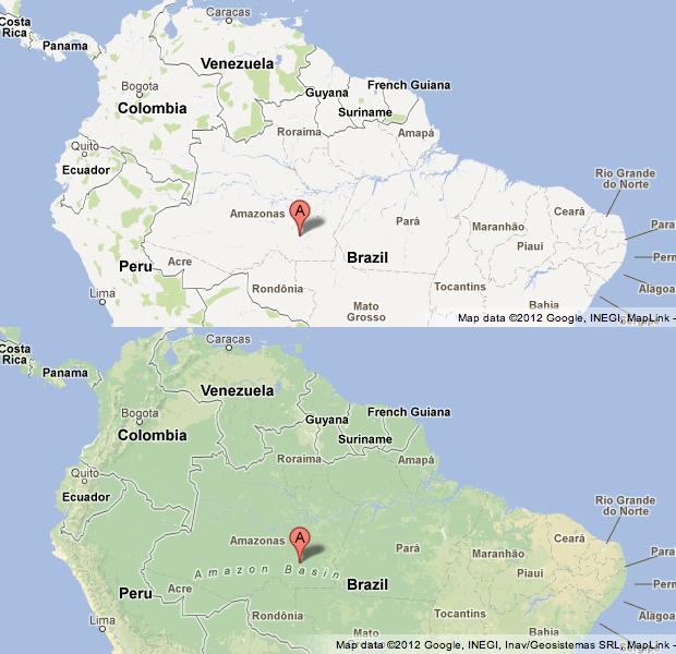 Imagens do Brasil no Google Maps antes e depois da implementação das melhorias (Foto: Divulgação/Google)
