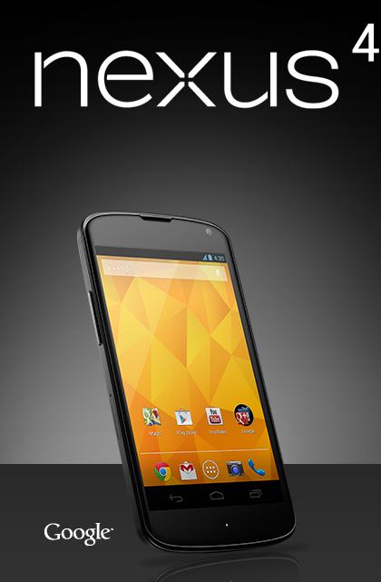 Nexus 4 é revelado oficialmente pelo Google (Foto: Reprodução)