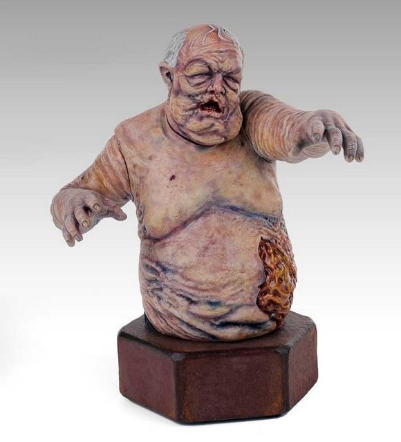 Cofre em formato de zumbi dos personagens do seriado The Walking Dead (Foto: Reprodução)