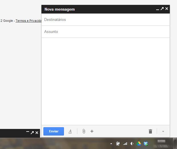 Nova janela de edição de mensagens do Gmail (Foto: Reprodução/Ricardo Fraga)