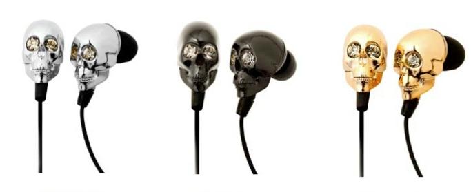 Fone de ouvido em formato de caveira em diversas cores (Foto: Reprodução)