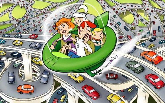Veículo proposto por desafio da Nasa tem funções semelhantes aos carros voadores do famoso desenho animado Os Jetsons (Foto: Reprodução/Slashgear)
