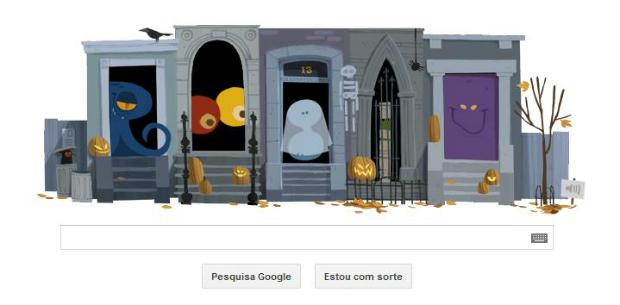 Doodle interativo ganhou destaque no Halloween (Foto: Reprodução)