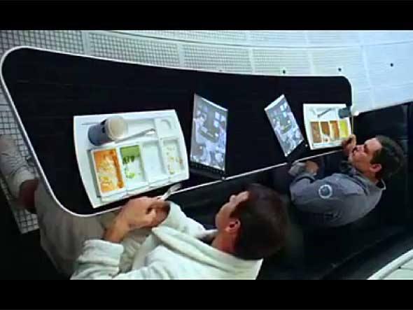 Cena do filme 2001: Uma odisseia no Espaço de 1968 (Foto: Reprodução)