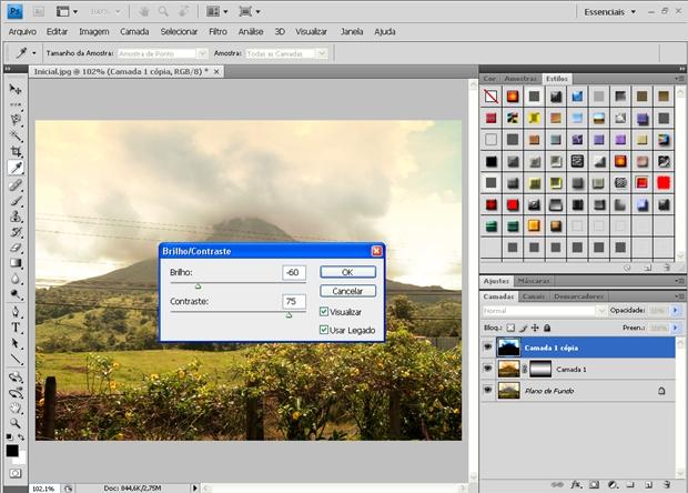 Finalizando com ajustes de brilho e contraste (Foto: Aline Ferreira) (Foto: Finalizando com ajustes de brilho e contraste (Foto: Aline Ferreira))