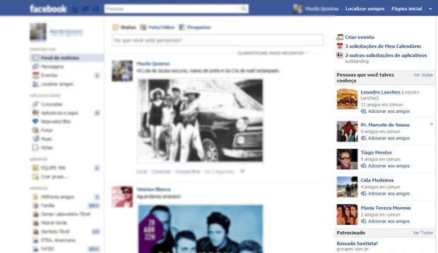 Amizades forçadas pelo robô do Facebook (Foto: Reprodução)