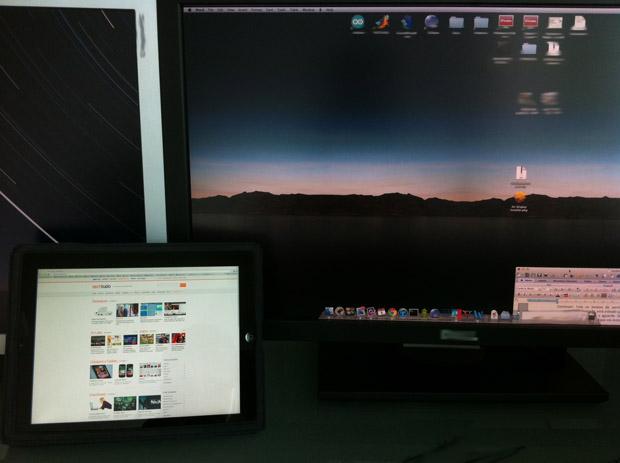 iPad como monitor externo (Foto: Reprodução/Hugo Carvalho) (Foto: iPad como monitor externo (Foto: Reprodução/Hugo Carvalho))