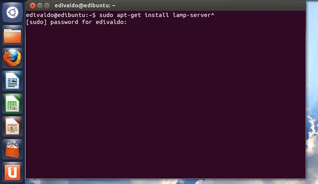 Iniciando a instalação do pacote lamp-server (Foto: Reprodução/Edivaldo Brito)