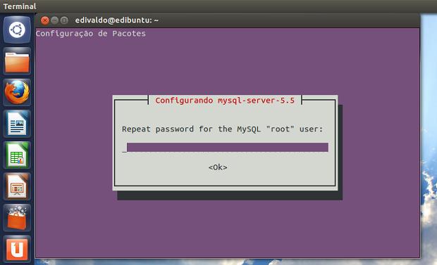 Confirmando a senha do administrador do MySQL (Foto: Reprodução/Edivaldo Brito)