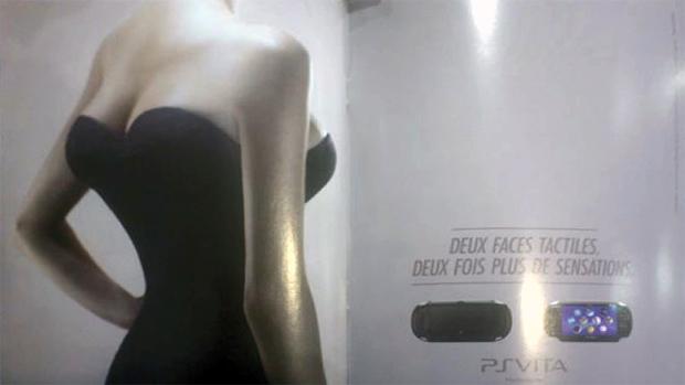 """Anúncio do PS Vita diz: """"Duas faces táteis, o dobro de sensibilidade"""" (Foto: Eurogamer)"""