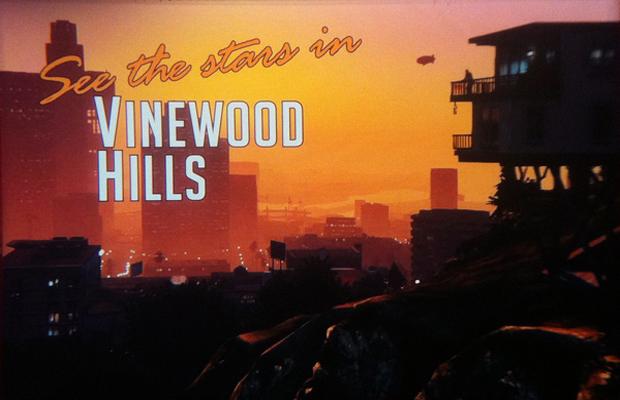 Vinewood Hills é a paródia de GTA 5 com Hollywood (Foto: Eurogamer)