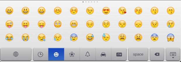 Emoji agora está embutido no iOS 6 (Foto: Reprodução)
