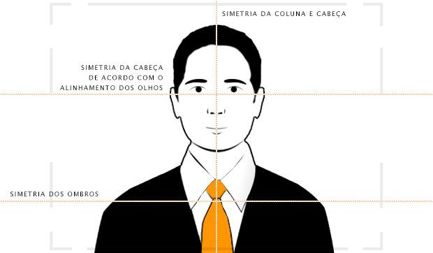 Fique atento à simetria vertical e da linha dos olhos e ombros (Foto: Reprodução/Adriano Hamaguchi)