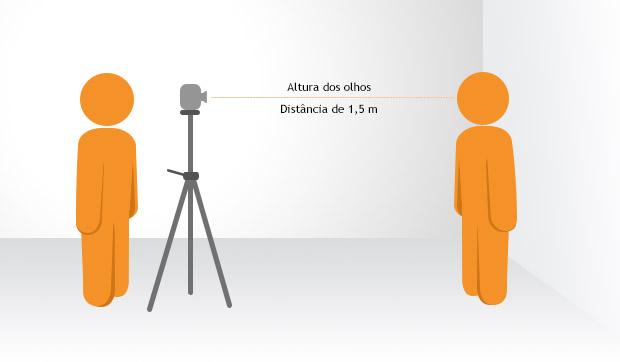 A câmera deve ser posicionada à altura dos olhos (Foto: Reprodução/Adriano Hamaguchi)