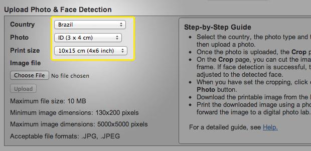 Configuração do tamanho da foto (Foto: Reprodução/Adriano Hamaguchi)