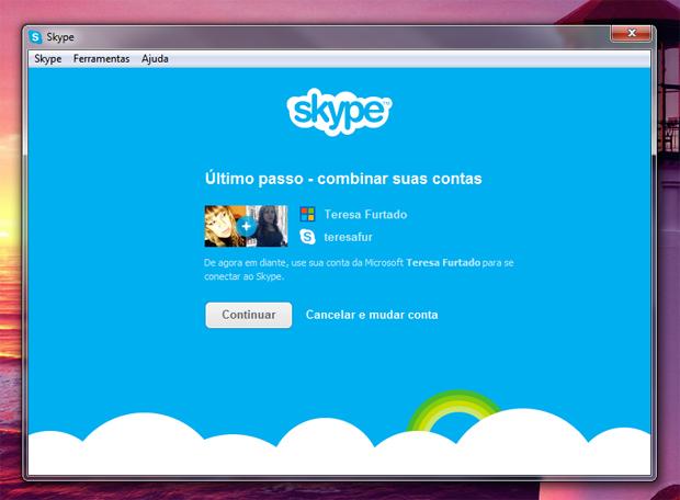 5 combinando contas de skype e messenger