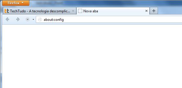 Acessando as configurações do Firefox (Foto: Reprodução/Edivaldo Brito)