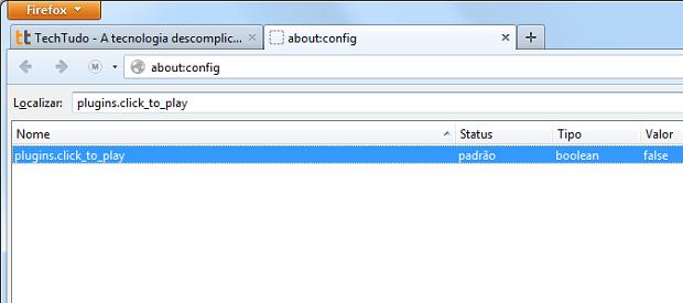 Producando a configuração do Firefox (Foto: Reprodução/Edivaldo Brito)