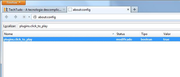 Modificando a configuração do Firefox (Foto: Reprodução/Edivaldo Brito)