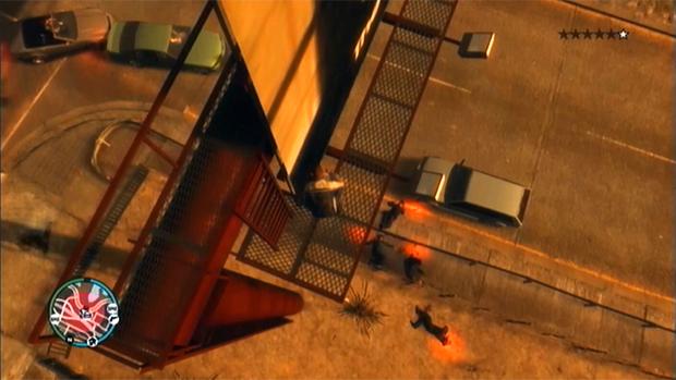 Policiais de Grand Theft Auto 4 estão chovendo pelas ruas (Foto: Divulgação)