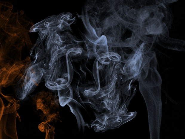 Efeito fumaça feito no Photoshop pronto (Foto: Reprodução/Ramon Martins)