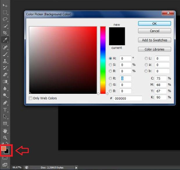 Caixa para a escolhar da cor com a ferramenta Seletor de Cores (Foto: Reprodução/Ramon Martins)