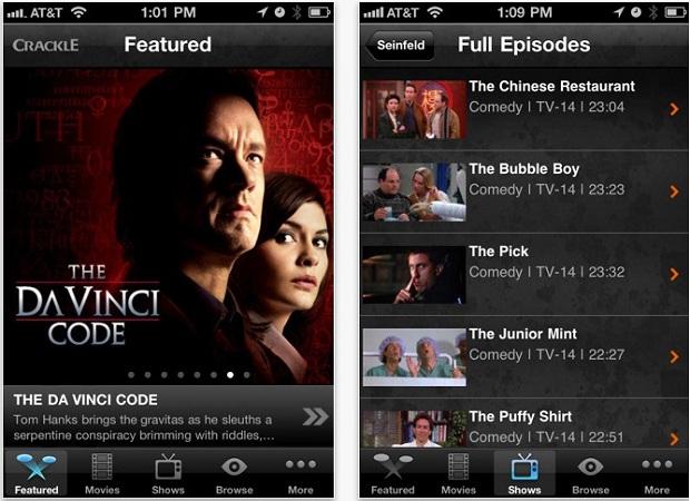 Crackle coloca filmes e séries no seu iPhone ou Android (Foto: Reprodução) (Foto: Crackle coloca filmes e séries no seu iPhone ou Android (Foto: Reprodução))