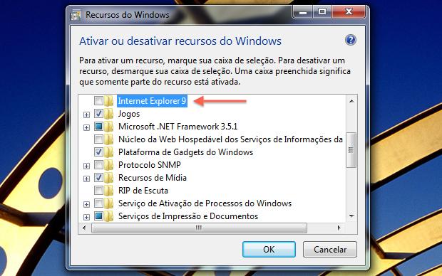 Desinstalar Internet Explorer - Passo 3 (Foto: TechTudo/Helito Bijora)