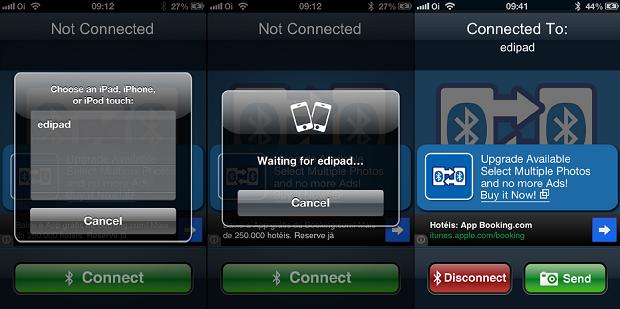 Conectando com outro dispositivo via Bluetoph (Foto: Reprodução/Edivaldo Brito)