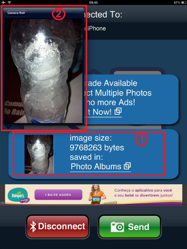 Acessando a foto recebida via Bluetooth (Foto: Reprodução/Edivaldo)