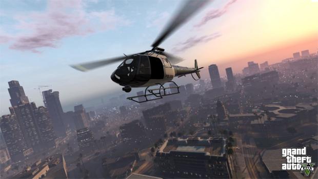 GTA 5 tem até mesmo fuga de helicóptero (Foto: Divulgação)