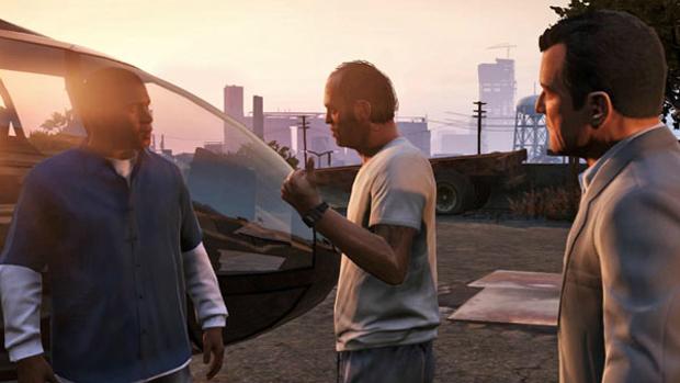 Três personagens vão trabalhar juntos em GTA 5 (Foto: Divulgação)