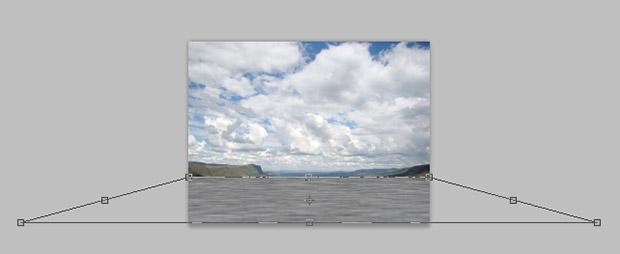 Transformação da perspectiva da camada com o efeito de desfoque (Foto: Reprodução/Adriano Hamaguchi)